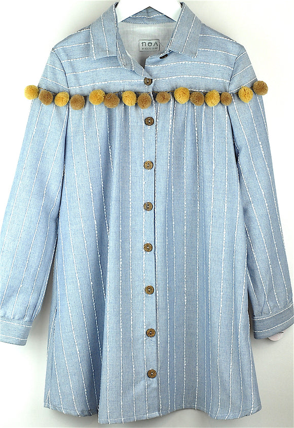 Noa Pom Pom Shirt Dress
