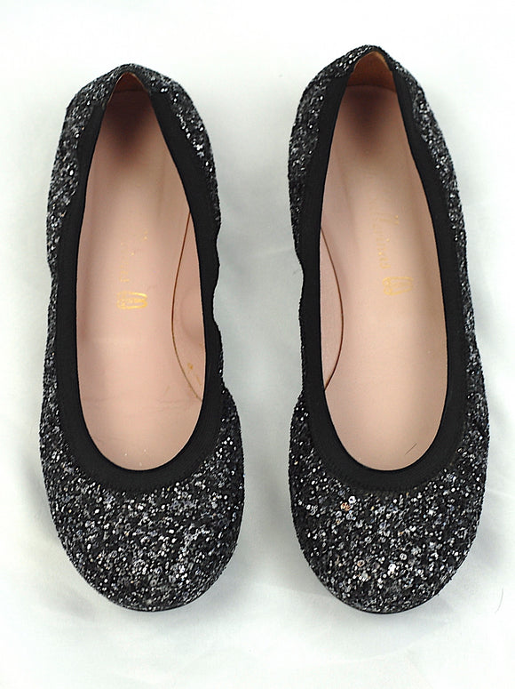 Pretty Ballerina Black Sparkly Shoes Size Euro 36