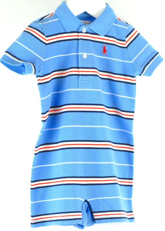 Ralph Lauren Blue Stripe Bodysuit Age 6 mths