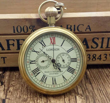 Load image into Gallery viewer, Antique Copper London Pocket Watch Hand Wind