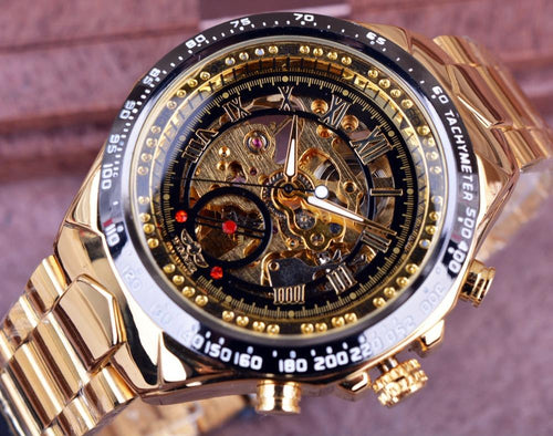 T-WINNER Sport Design Golden  Bezel Watch