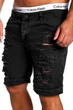 Load image into Gallery viewer, Ripped Denim Shorts