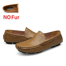 Load image into Gallery viewer, DEKABR Men Genuine Leather Soft Moccasins Loafers