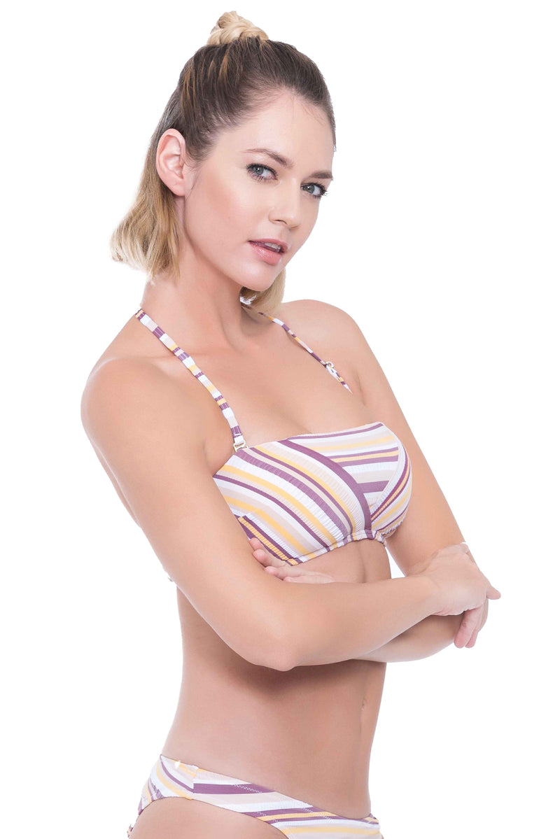 Sunbleached Stripes Bandeau Top