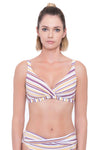 Plus Cup Bikini Tops Sunbleached Stripes Plus Cup Bikini Top - Sunseeker
