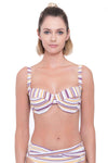 Plus Cup Bikini Tops Sunbleached Stripes Plus Cup Underwire Bikini Top - Sunseeker