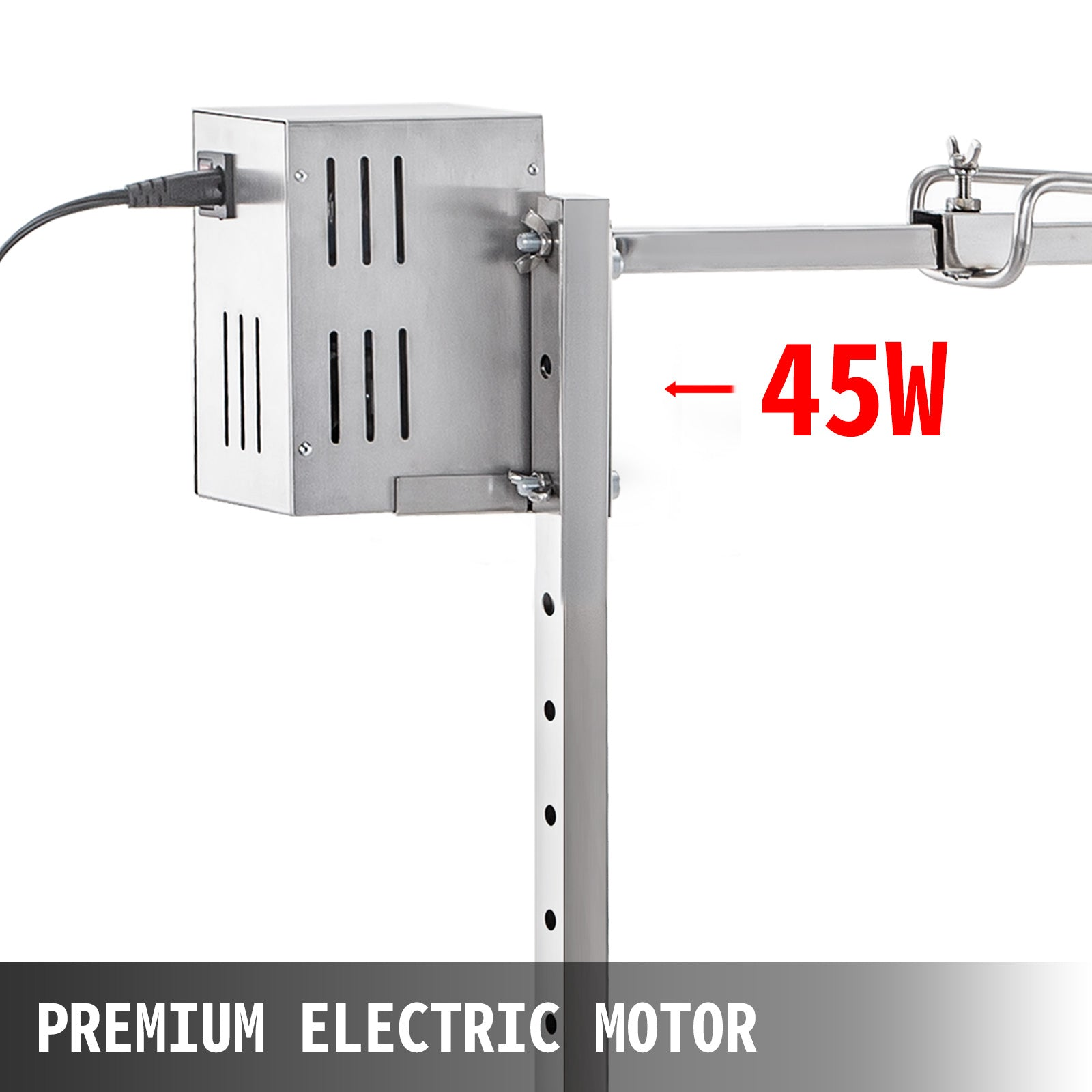 125lb Electric Stainless Steel Rotisserie System Tripod Capacity Motor Outdoor