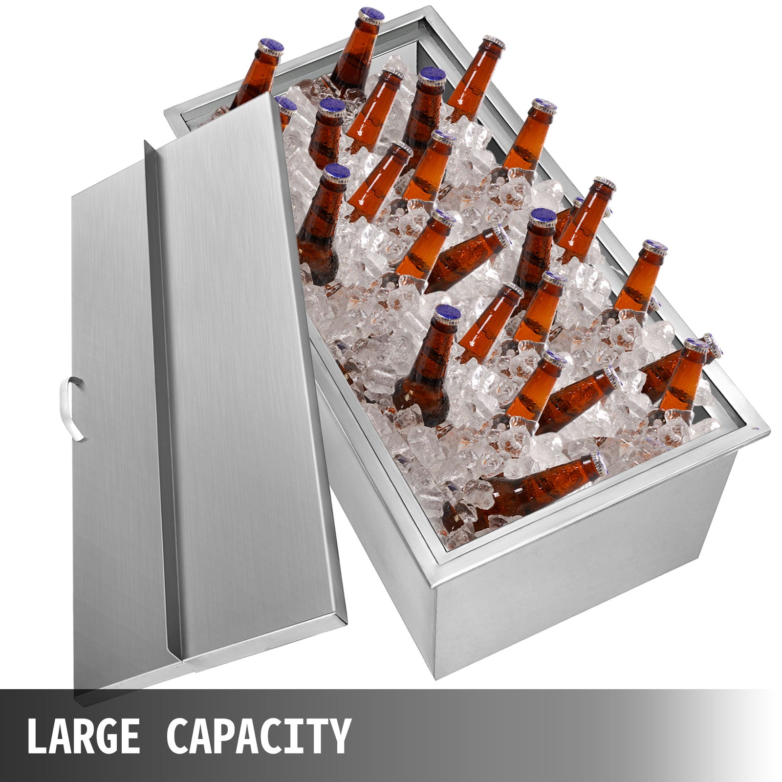 "Drop-in Ice Chest With Cover Bin Cooler 20.6"" X13.6"" X12.6"" For Wine Beer Juice"