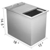"18""x12"" Bbq Island Stainless Steel Drop In Ice Chest/cooler Bin W/drain Valve"