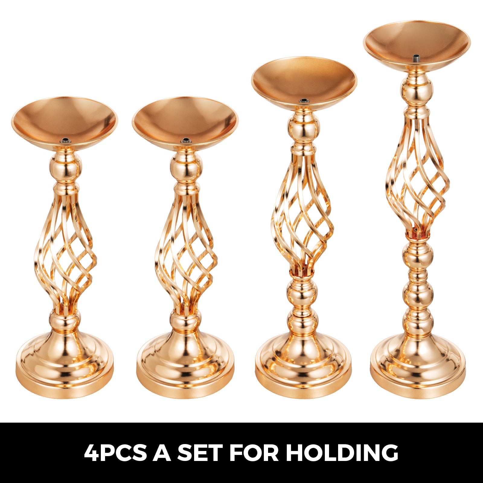 "Flower Rack For Wedding 10pcs Metal Candle Stand 16"" Height Gold Centerpieces"