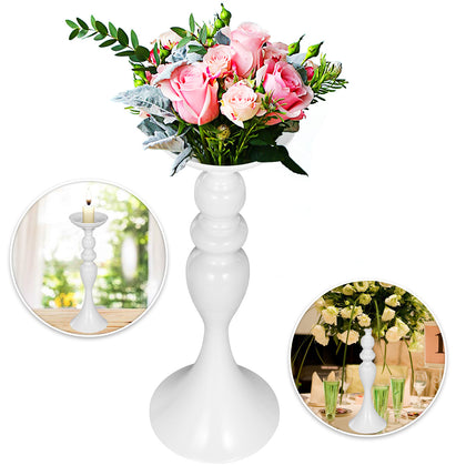 "10pcs Wedding Flower Stand Metal Candle Holder 15"" White Centerpiece Table Decor"