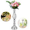 Candle Holder Vase For Wedding Metal Flower Rack 11pcs Silver Centerpiece Vase