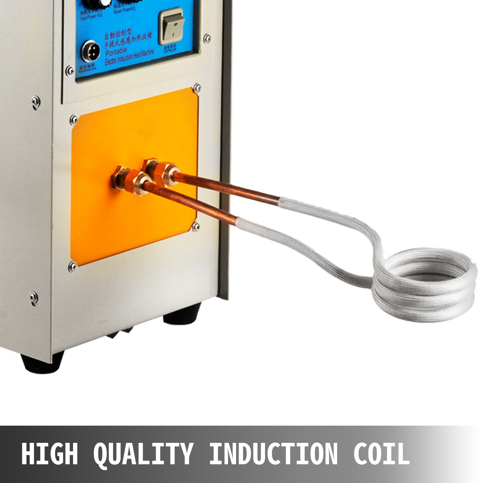 15kw High Frequency Induction Heater Furnace 110v 2 L / Min 30-100 Khz