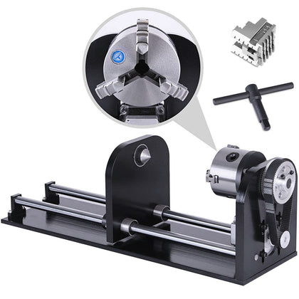230mm 3-jaw Rotary Axis Co2 Laser Engraver Cutting Machine For 60w/80w/100w/130w