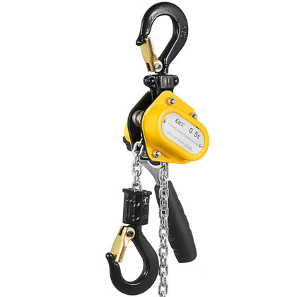 Brandmini Lever Chain Hoist 1/2ton 1100lbs 15ft 4.5m Yellow