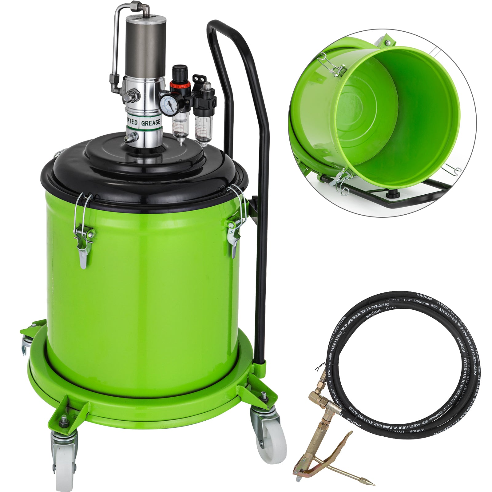 7.5 Gallon Grease Pump Air Pneumatic Compressed High Pressure Lubricator
