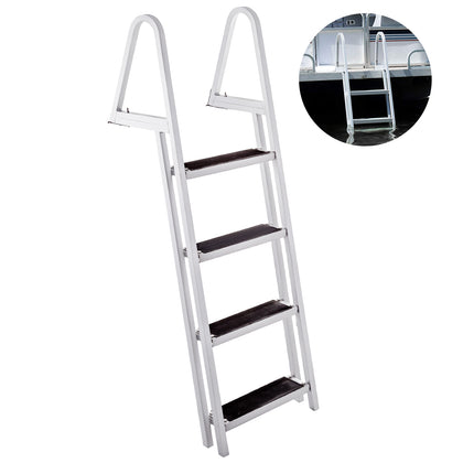 Aluminum Dock Ladder Boat Dock Ladder 4 Steps Pontoon Dock Ladder Dock Stairs