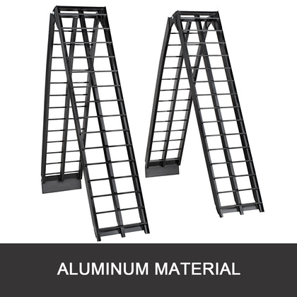 Aluminum Ramps Atv Ramps 9ftx17.25-inch For Loading Equipment 1 Pair