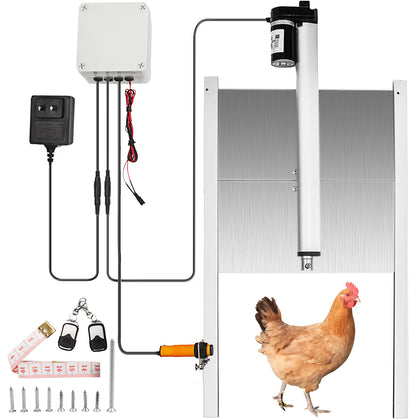 Automatic Chicken Coop Door Opener Closer Kit Light Sensor 12.6