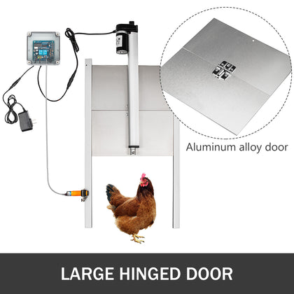 Automatic Chicken Coop Door Opener #3 Time Sensing Chicken Coops 12.6x11.8inch