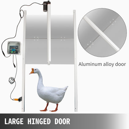 Automatic Chicken Coop Door Opener Timing Control Duck Coops Opener 20.4x37.7in