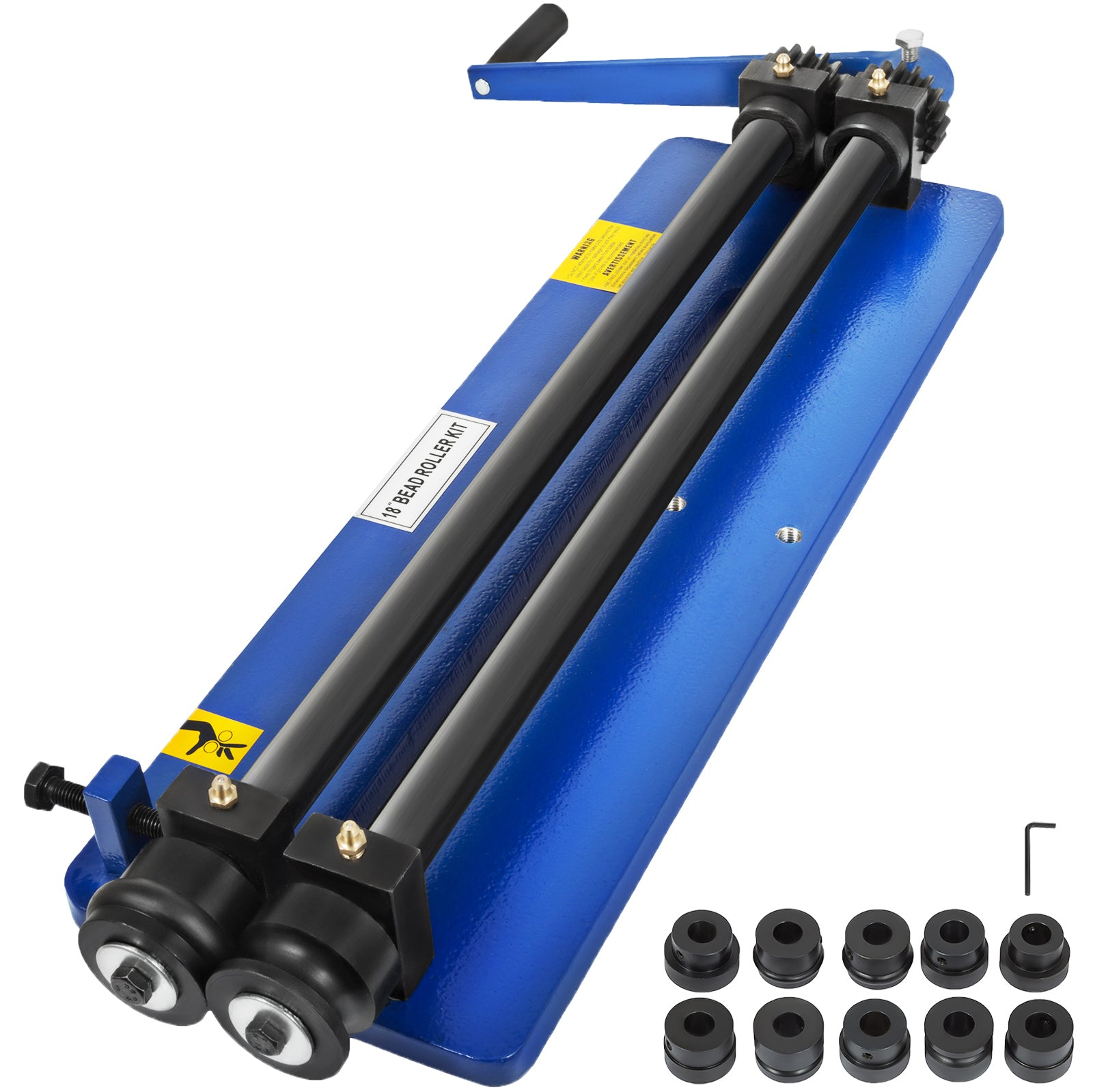 "18"" Bead Roller Former Swager Rotary Swaging Machine Tough 6 Die Sets Convenient"