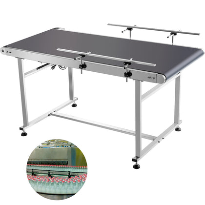 Belt Conveyor Pvc Conveyor Belt59x 23.6-inch, Motorized Conveyor W/ Guardrails