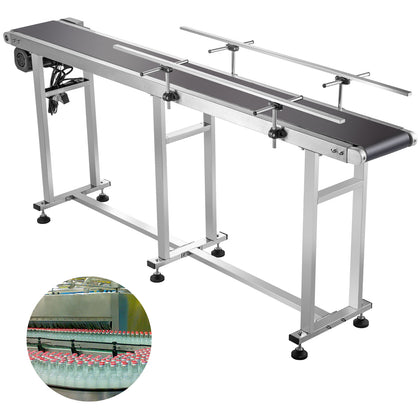 Belt Conveyor Pvc Conveyor Belt 71 X 7.8-inch, Motorized Conveyor, W/ Guardrails
