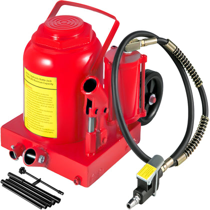 Air Hydraulic Bottle Jack 50 Ton Manual 110231lb Heavy Duty Auto Truck Rv Repair