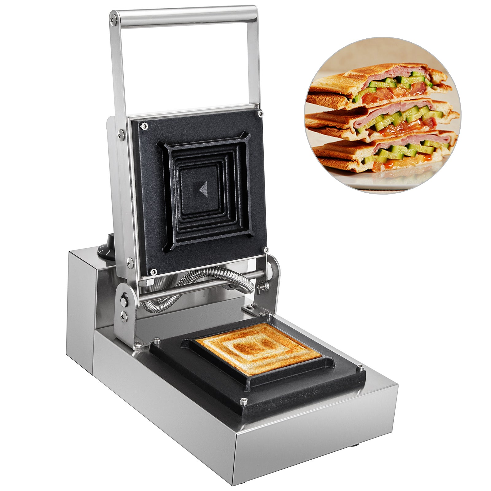 Commercial Sandwich Maker Panini Press Grill Nonstick Toaster Sandwich Gill Sus