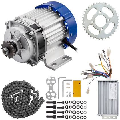 48v Brushless Electric Motor Controller Chain 500w Powerful Permanent Magnet