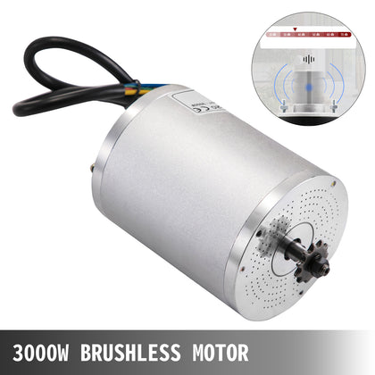 72v 3000w Bldc Motor Kit With Brushless Controller Electric Bicycle Scooter