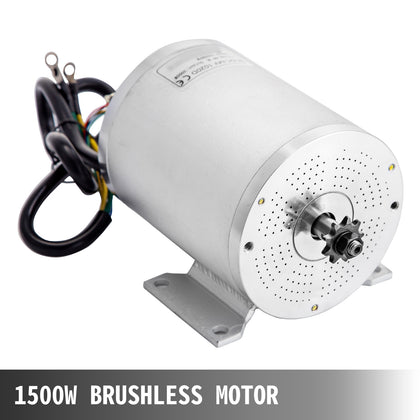 Brushless Motor 1500w 48v Electric Motor With Bracket T8f Sprocket For Go Kart
