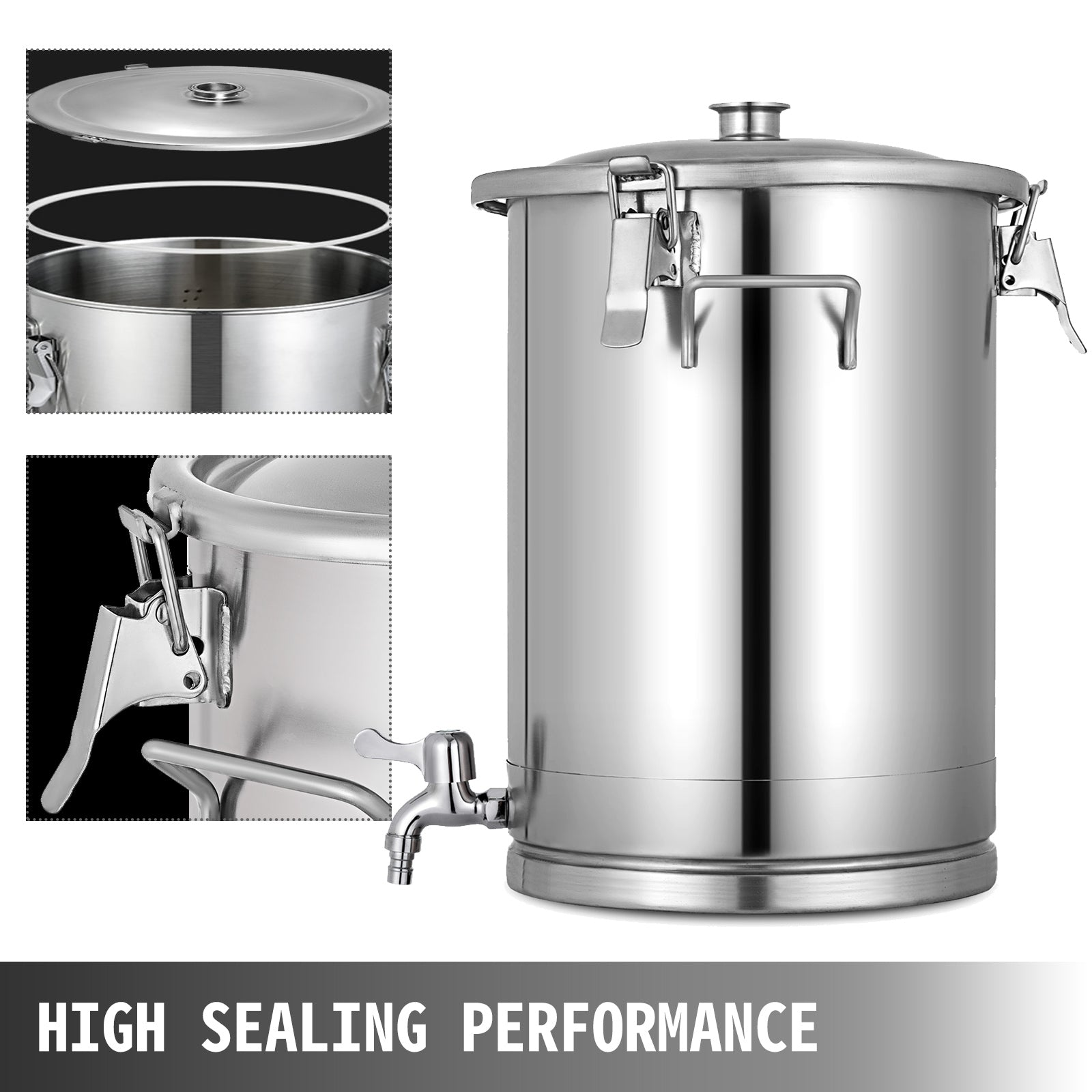Fermenter Mini Brew Kettle W/stainless Handles With Stopper New Generation