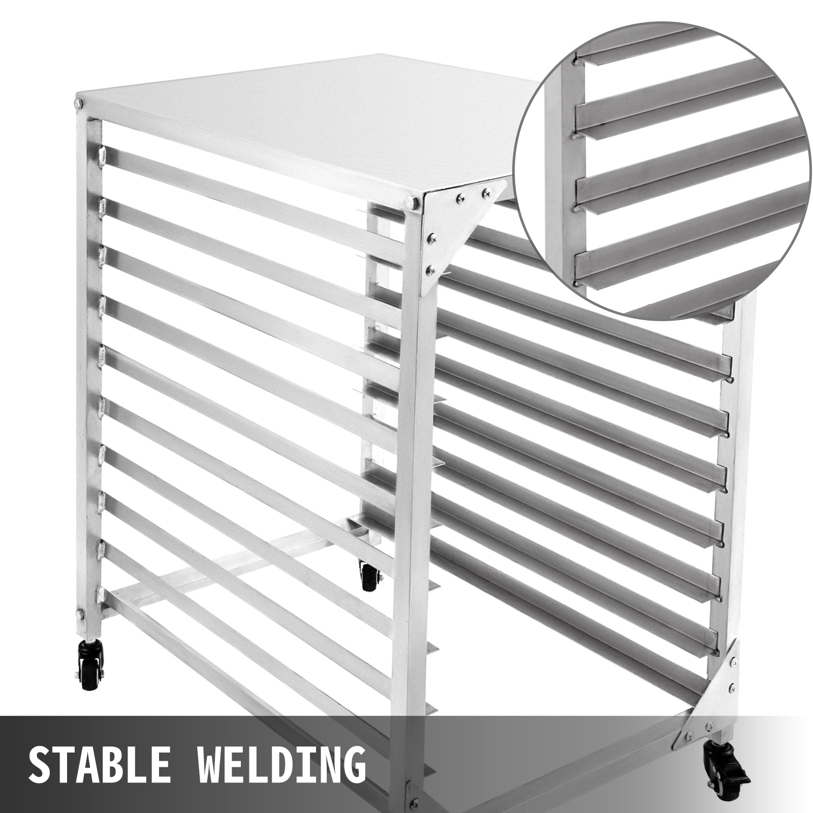 Bun Pan Rack Bakery Rack 10-tier Aluminum Kitchen Bakery Cooling Rack W/ Cover
