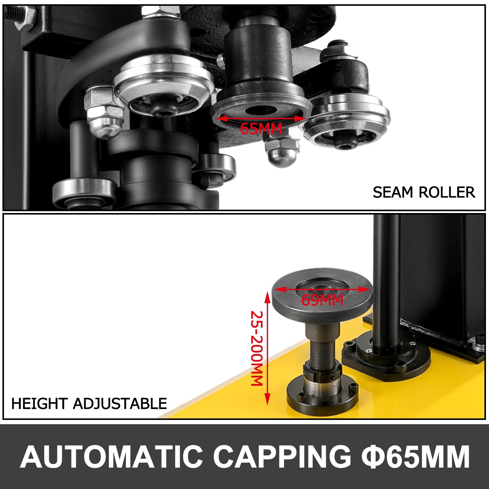 Automatic Capping Machine 65mm Tin Can Sealer Machine 370w Sealing Tool