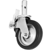 "Scaffold Caster 8"" X 2"" 4 Pcs Black Pu Wheel Foot Brake 1100lbs"