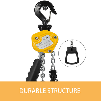 Mini Lever Hoist Chain Block 550lbs 5ft Versatile Construction Posts
