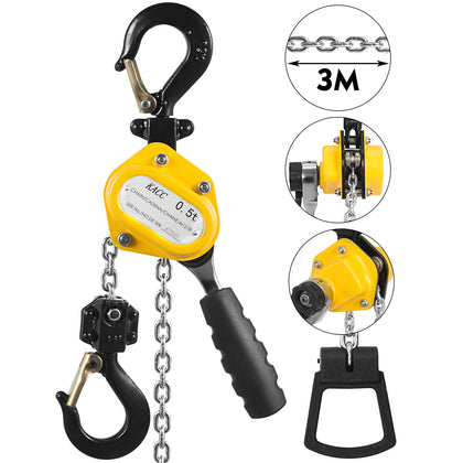 Mini Lever Block Chain Hoist 0.5t 10ft Lever Hoist With Hook