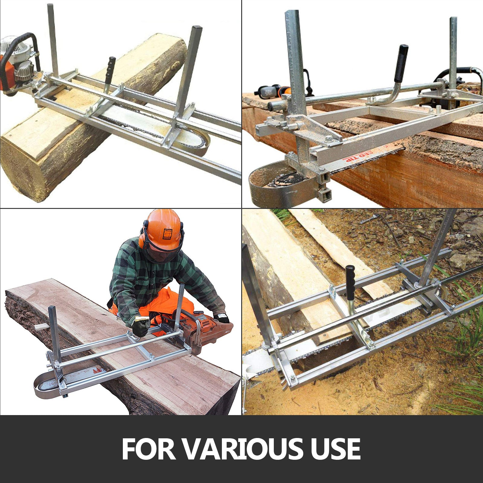 """VEVOR Chain Saw Mill Fit 14/""""-24/"""" Chainsaw Guide Bar Log Planking Lumber Cutting"""