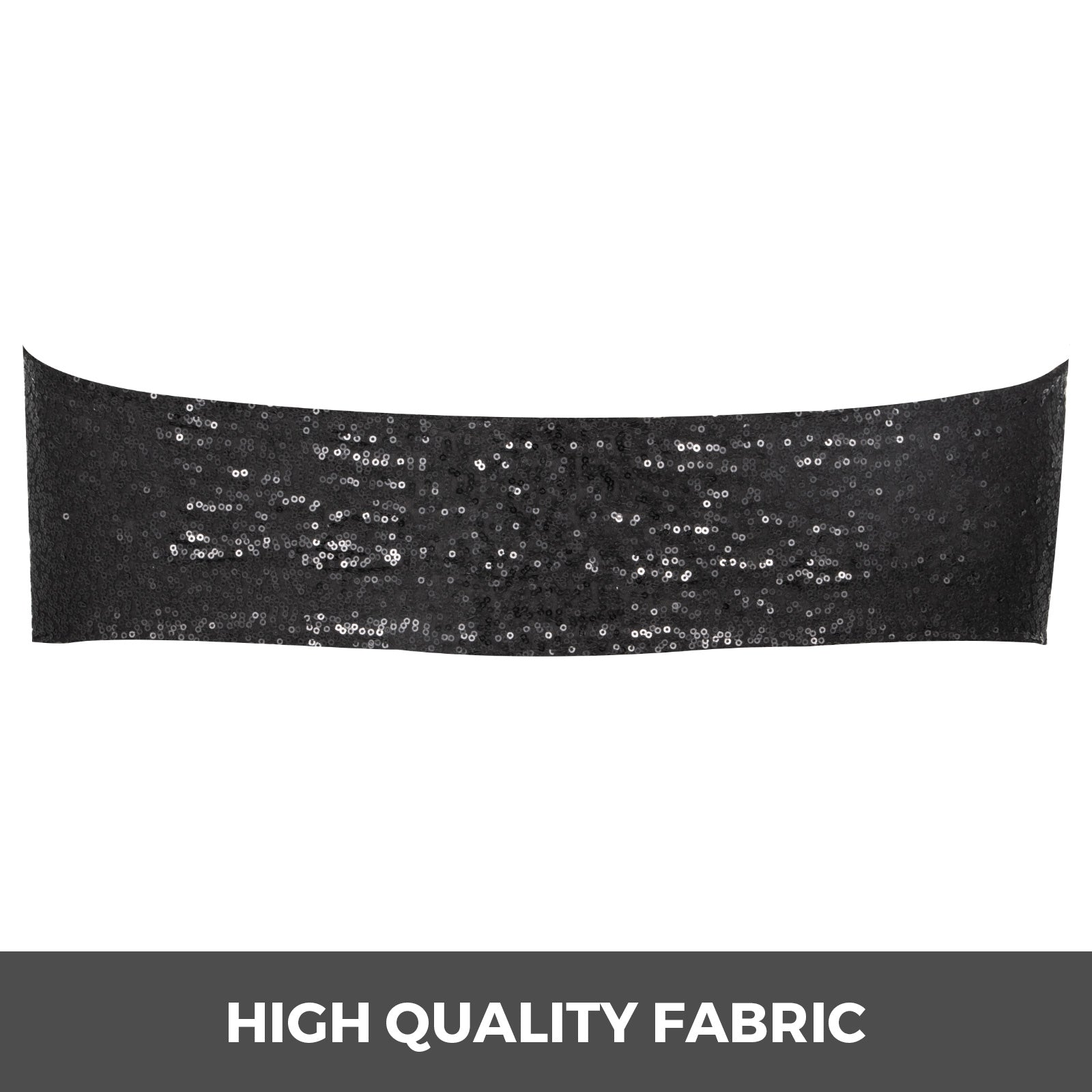 Chair Sashes Spandex Chair Sashes 100pcs Black Elastic Sequin Bands For Wedding