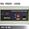 Electric Water Heating Chocolate Melter Machine With 4 Melting Pot Kitchen