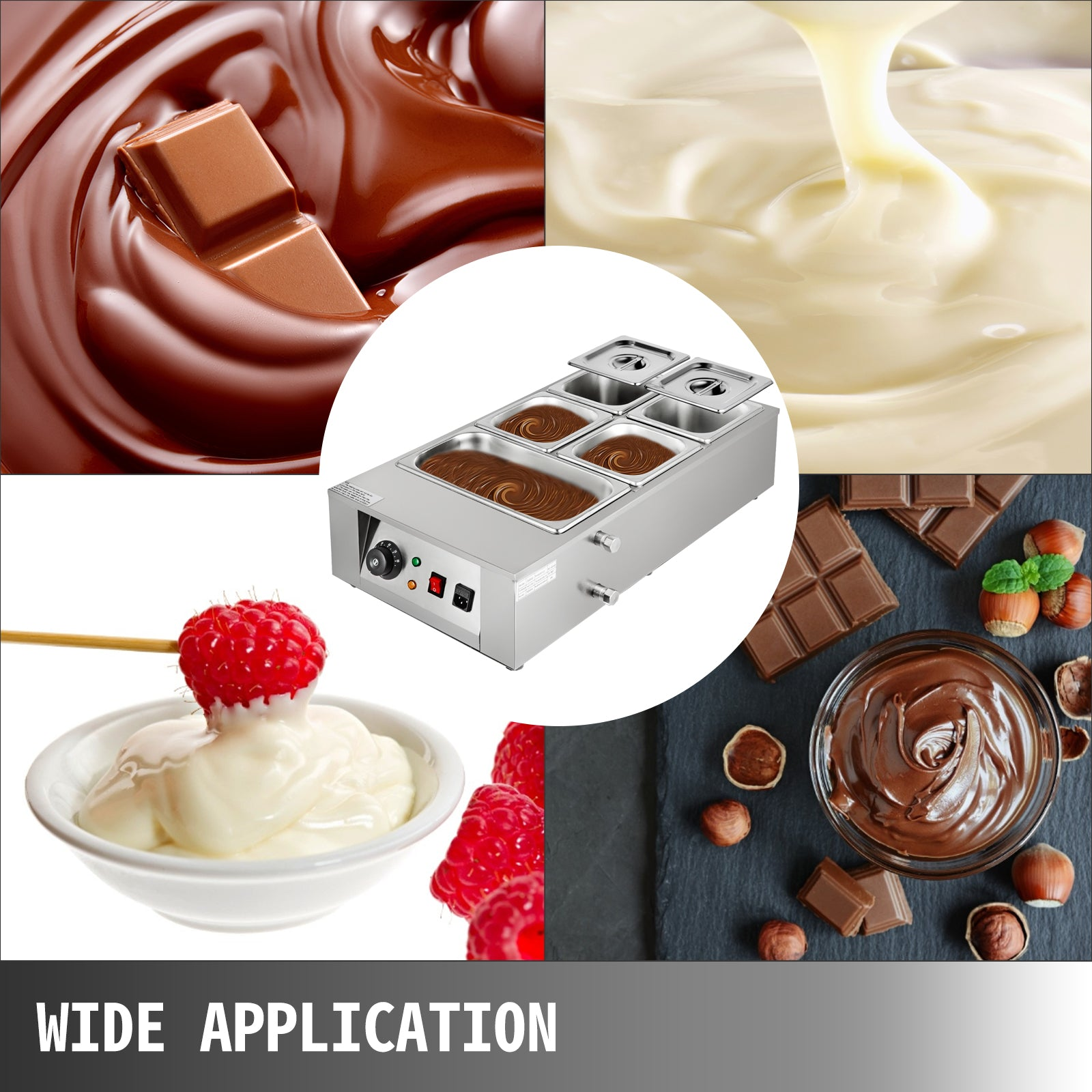 12kg Electric Chocolate Tempering Machine Melter Maker W/5 Melting Pot Dining