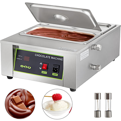 Electric Chocolate Melting Machine 8 Kg Melting Pots Tempering