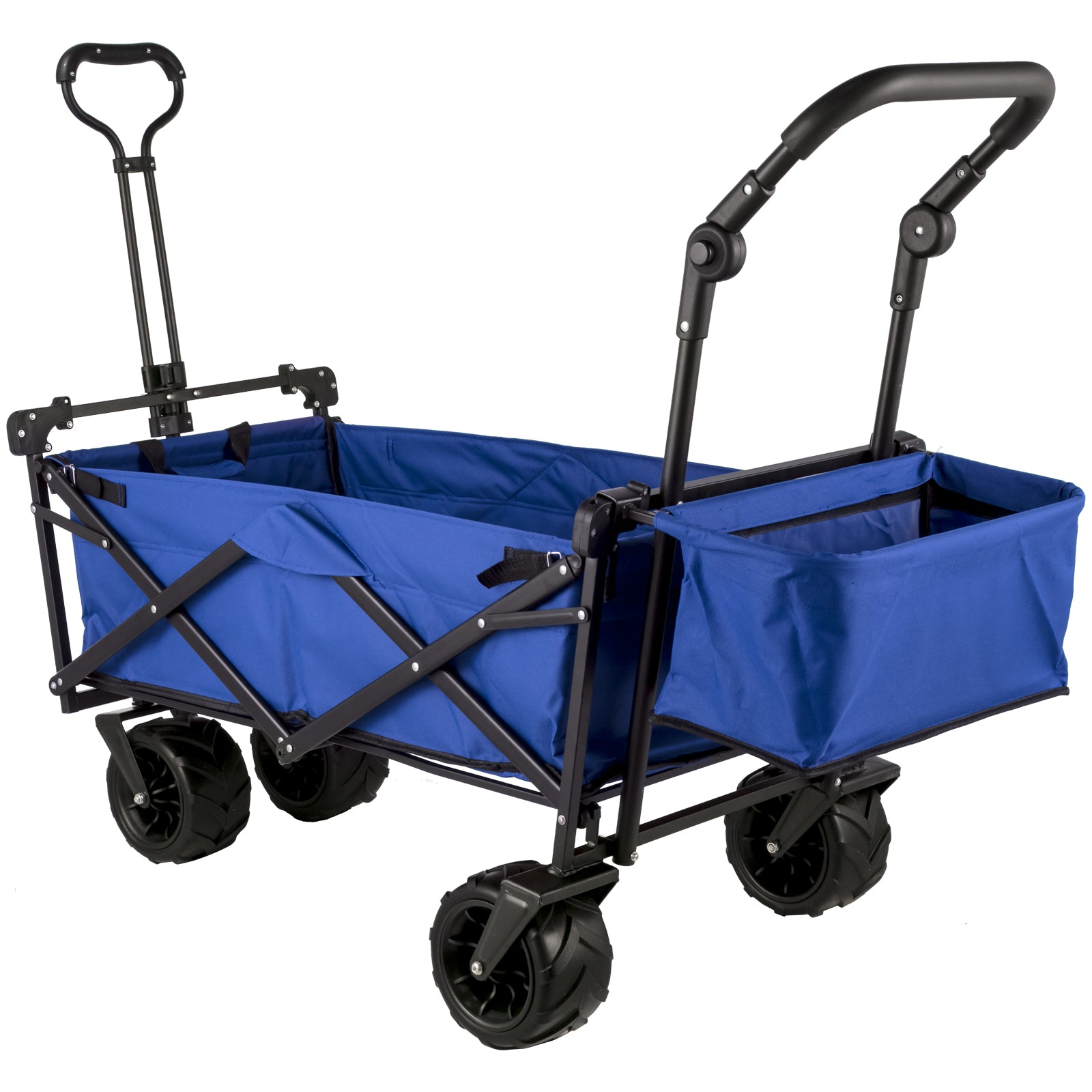 Vevor Folding Wagon Cart, Collapsible Folding Garden Cart W/ Canopy