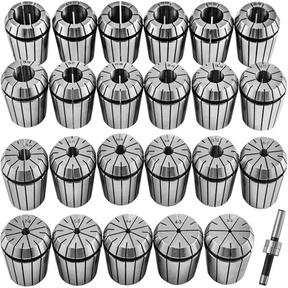 Vevor Collet Set Collet Chuck 23pcs Er40 Workholding Collets 3-25 Mm For Milling