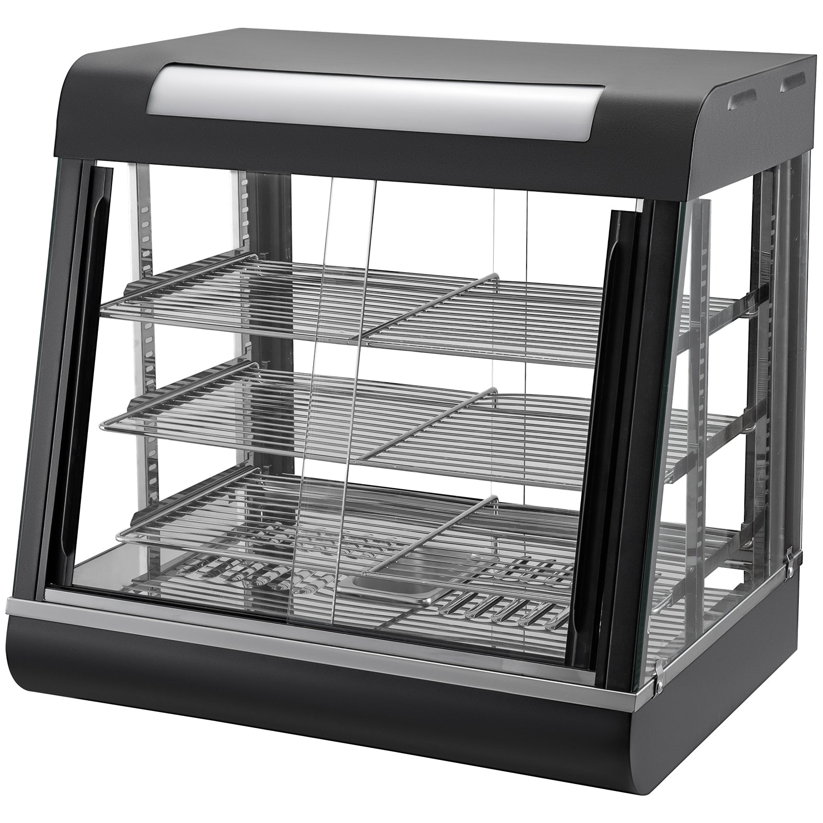 Commercial Food Warmer Display Case Pizza Warmer 48in Food Warmer Buffet 3 Tiers