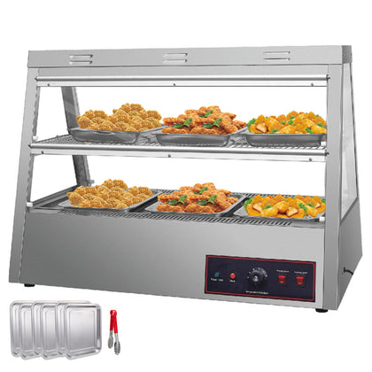 2 Tiers Commercial Food Warmer Cabinet 44