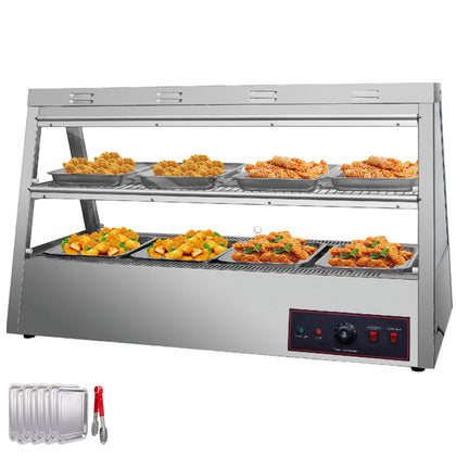 2 Tiers Commercial Food Warmer Cabinet 47