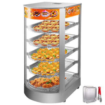 Commercial Food Warmer Court Heat Food Pizza Display Warmer Cabinet 14